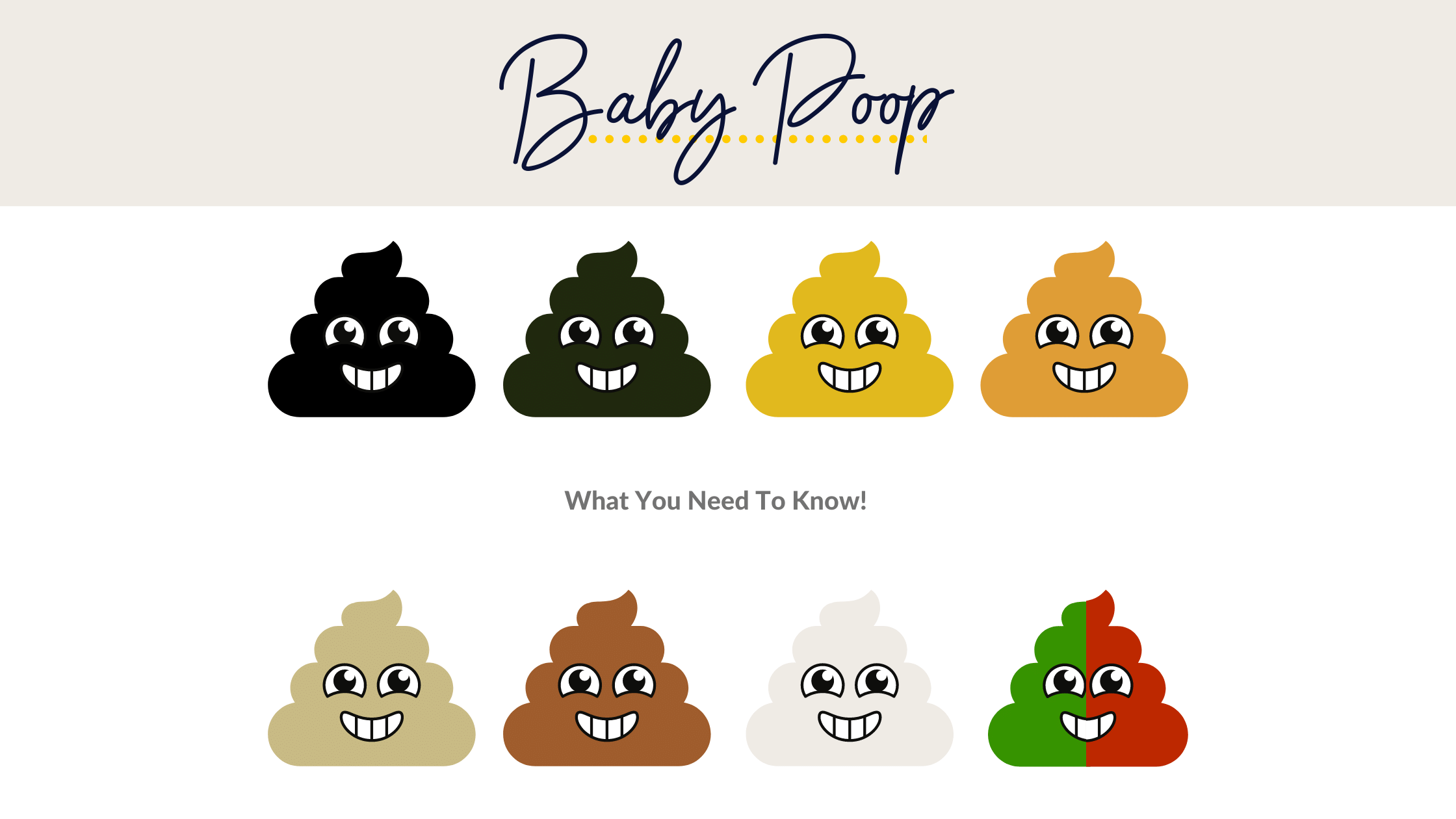 colours of baby poop